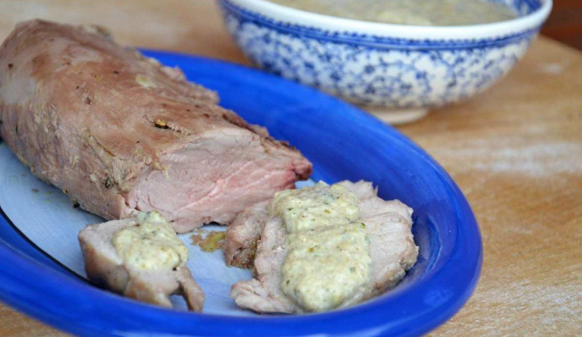 Filetto di maiale con salsa al curry ed anacardi