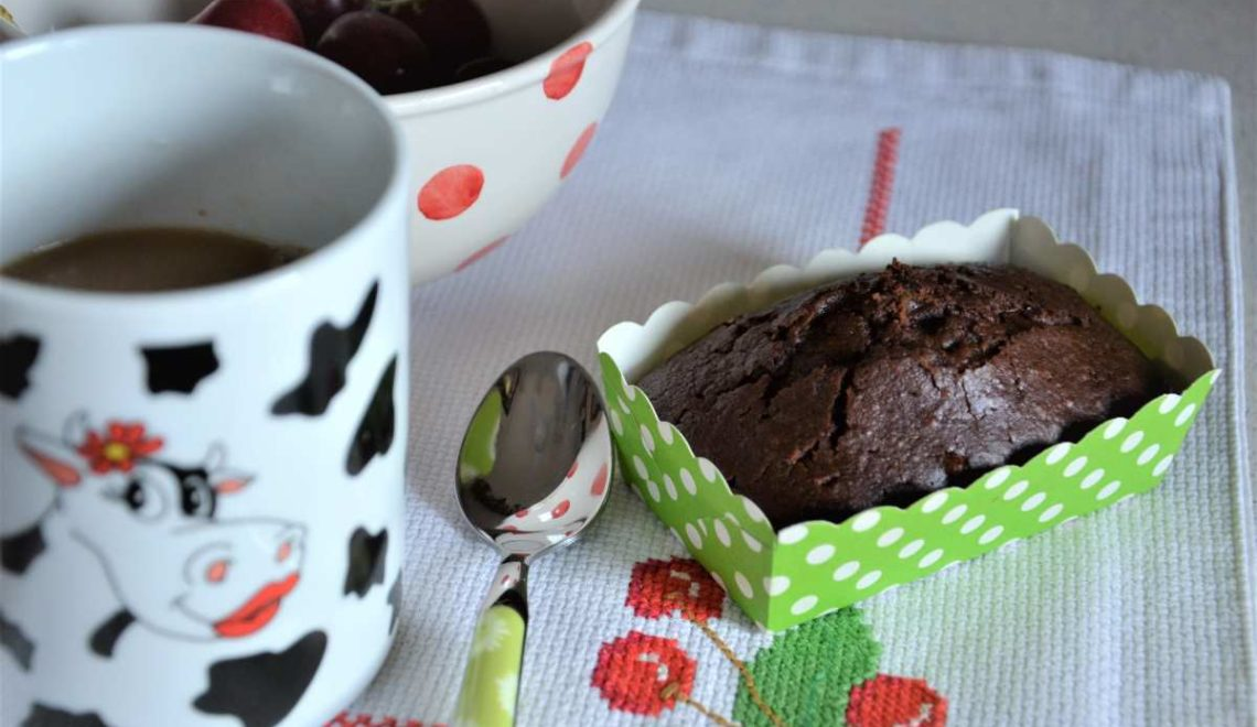 Muffin cioccolato fondente e banane