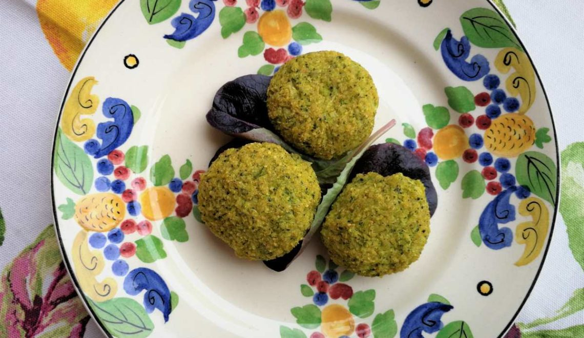 Polpette ai due broccoli, pecorino e profumi d'Oriente