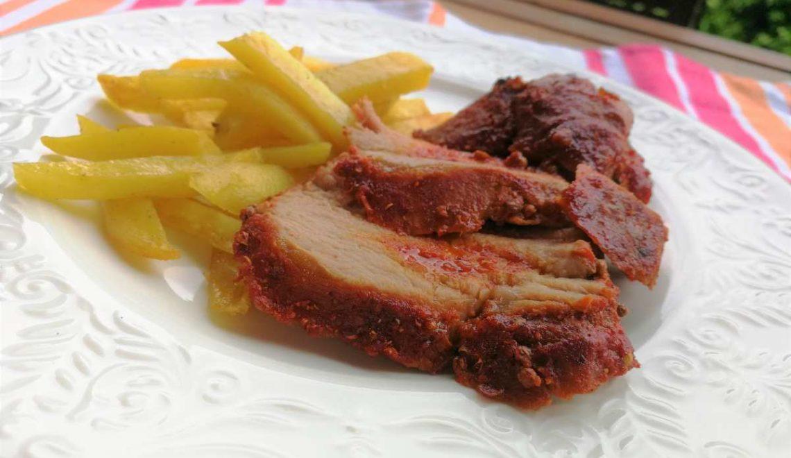 Filetto di maiale e la sua crosta di spezie