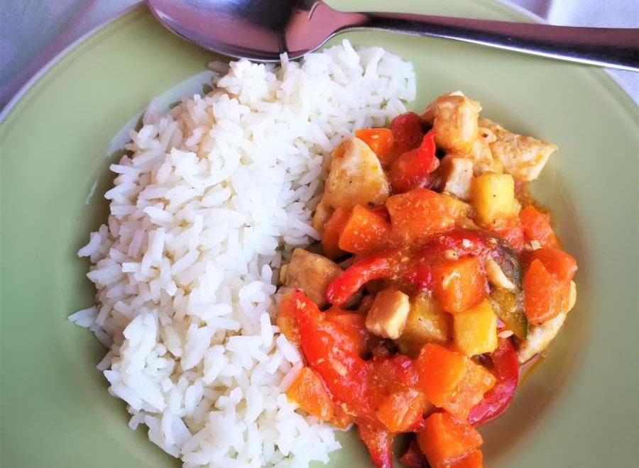 Curry di pollo al tartufo nero