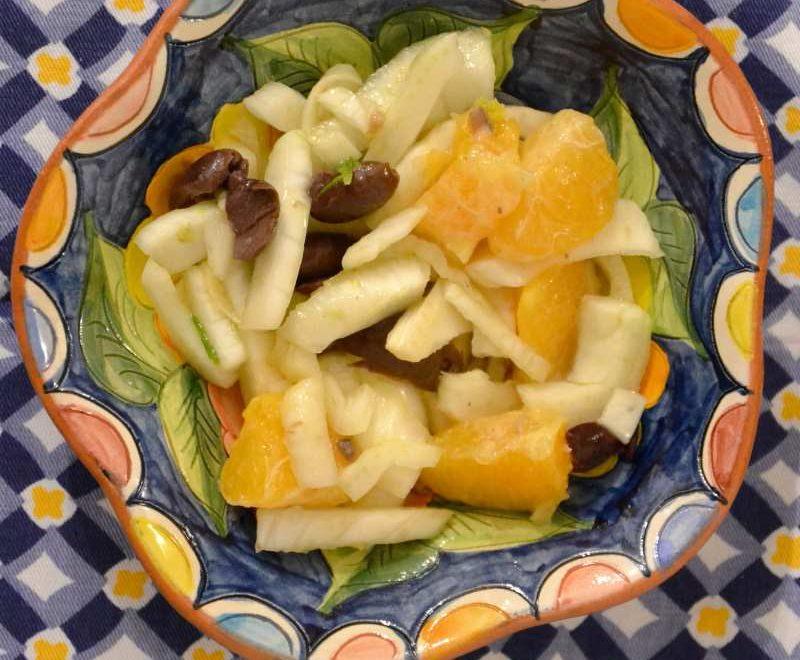 Insalata di finocchi, arance, olive ed acciughe