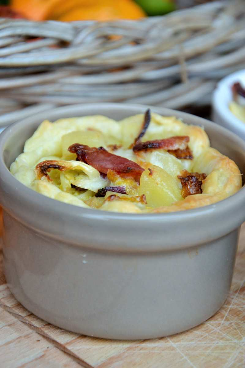 Tortino di patate, speck e verza