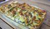 Lasagne fiori zucca zucchine e salsiccia