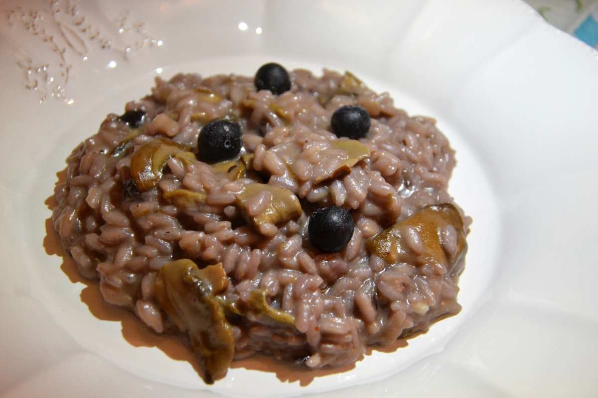 Risotto mirtilli e porcini