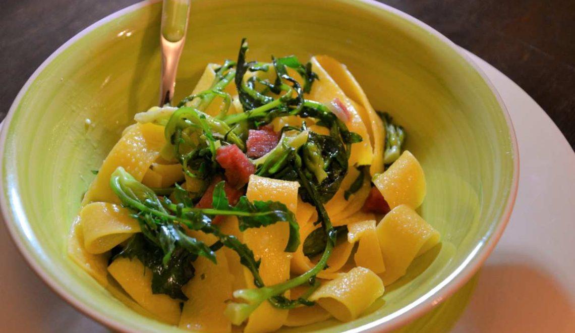 Pasta broccolo fiolaro e pepita del Piave