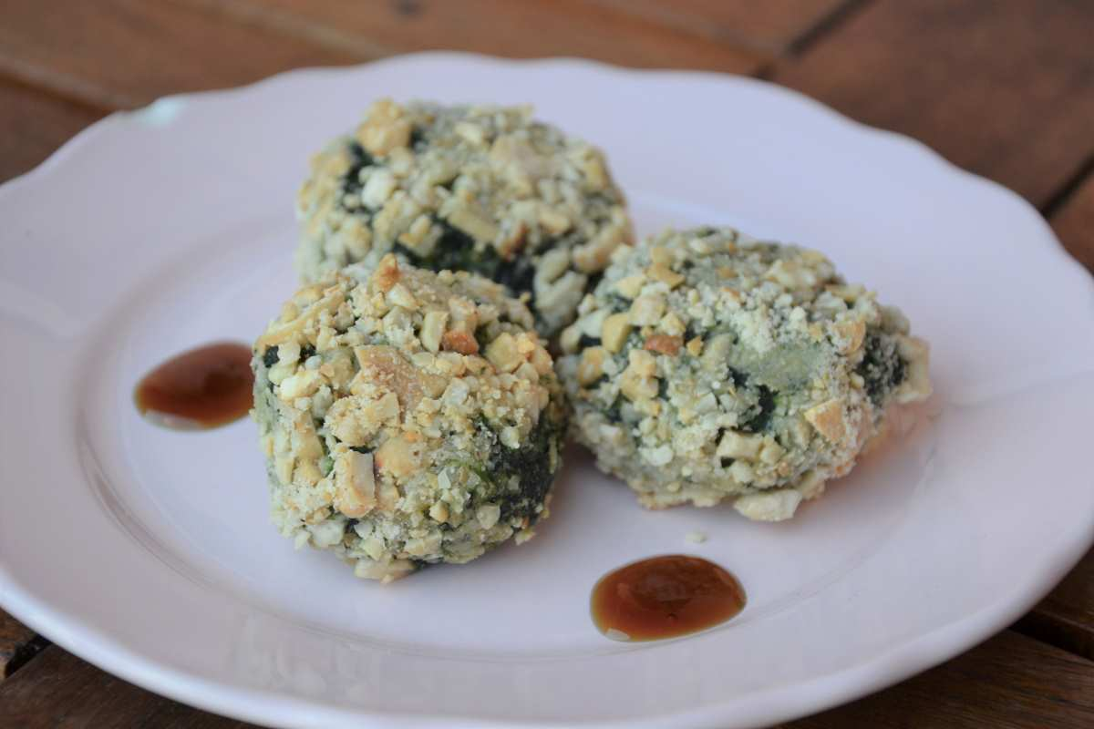 Polpette spinaci, ricotta ed anacardi