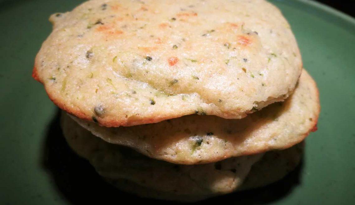 Pancake salati broccoli e porri
