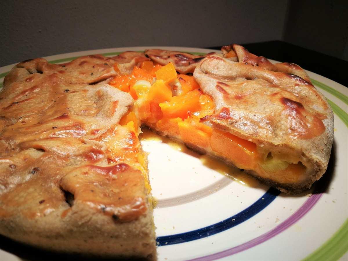 Torta rustica zucca e gorgonzola